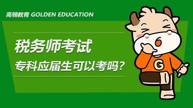 税务师考试专科应届生可以考吗?