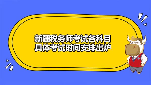 新疆税务师考试最新公告发布!各科目具体考试时间安排出炉!