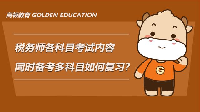 税务师各科目考试内容有哪些?同时备考多科目如何复习?