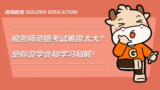 税务师资格考试难度太大?是你没学会和学习和解!
