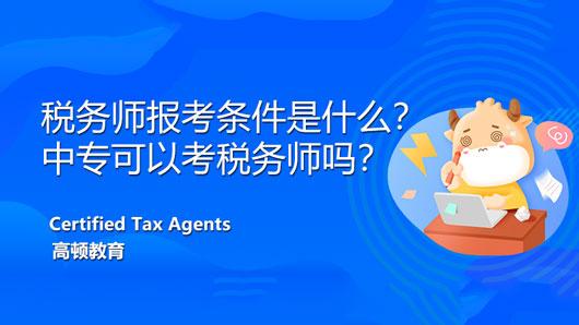 税务师报考条件是什么?中专可以考税务师吗?