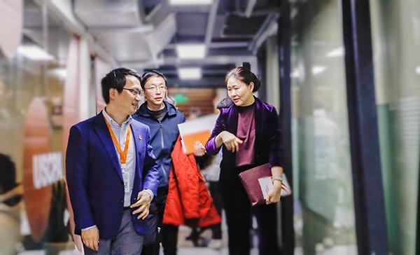 上海市人社局领导一行莅临高顿教育调研指导海外人才引进工作