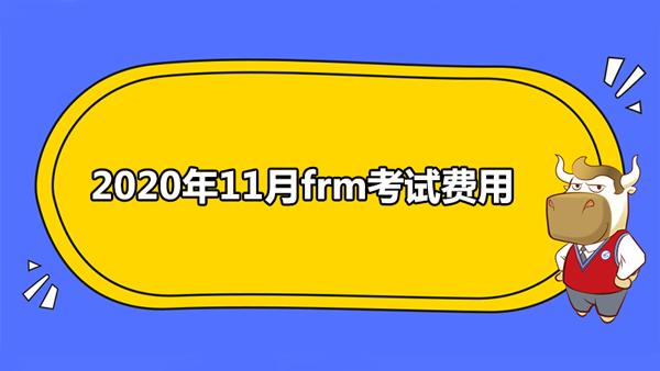2020年11月frm考试费用是多少?
