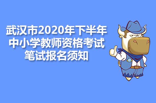 武汉市2020年下半年中小学教师资格考试笔试报名须知