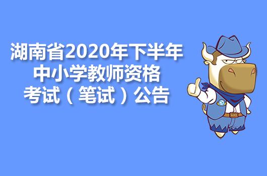 湖南省2020年下半年中小学教师资格考试(笔试)公告