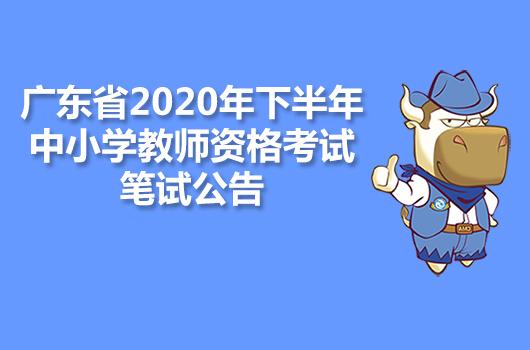 广东省2020年下半年中小学教师资格考试笔试公告