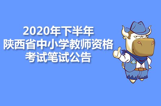 2020年下半年陕西省中小学教师资格考试笔试公告