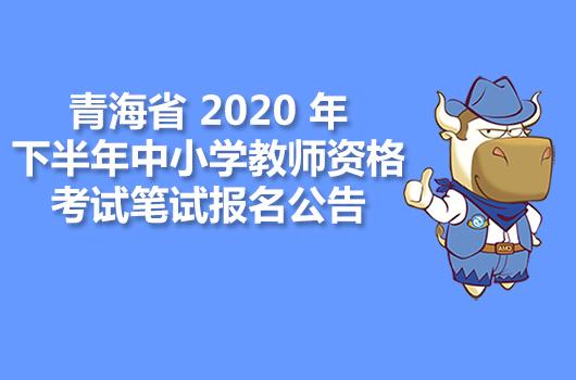青海省2020年下半年中小学教师资格考试笔试报名公告