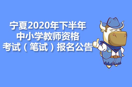 宁夏2020年下半年中小学教师资格考试(笔试)报名公告