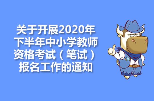 关于开展2020年下半年中小学教师资格考试(笔试)报名工作的通知