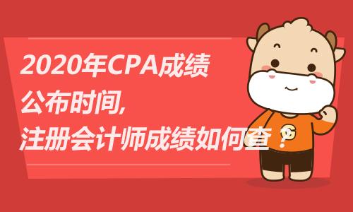 2020年CPA成績公布時間,注冊會計師成績如何查?