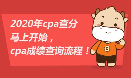2020年cpa查分马上开始,cpa成绩查询流程!
