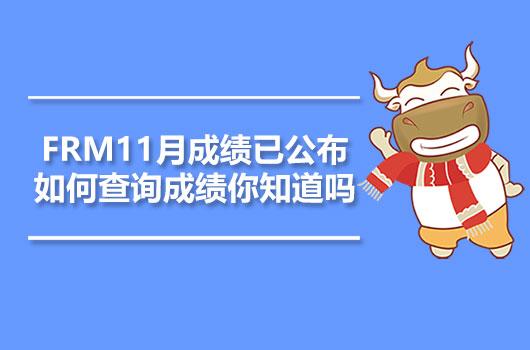 FRM11月成绩已公布,如何查询成绩你知道吗?