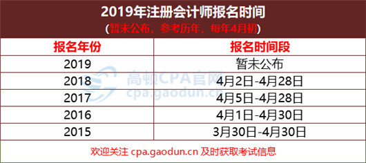 2019南京注册会计师报名入口及报名时间