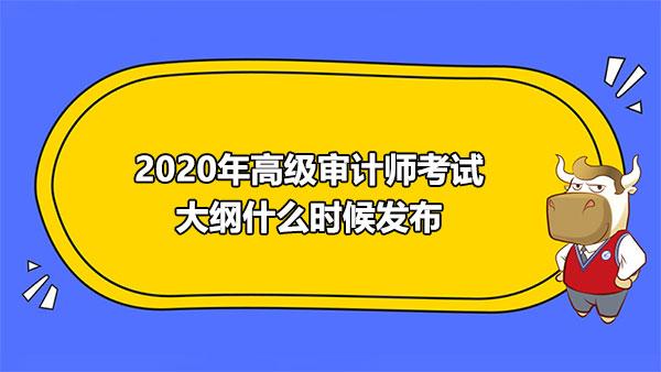2020年高級審計師考試大綱什么時候發布?