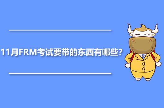2020年11月FRM考试要带的东西有哪些?