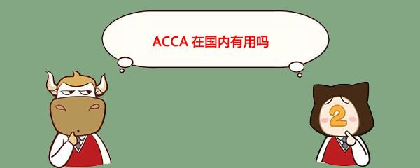 ACCA在国内有用吗