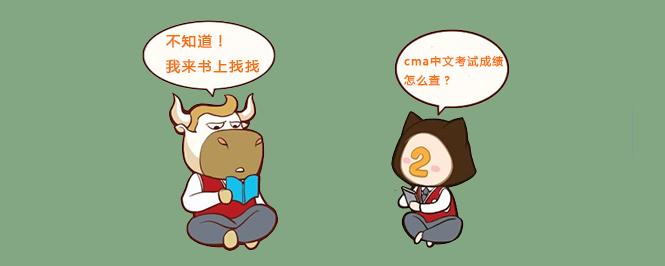 cma中文考试成绩怎么查