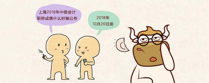 上海2018年中级会计职称成绩什么时候公布