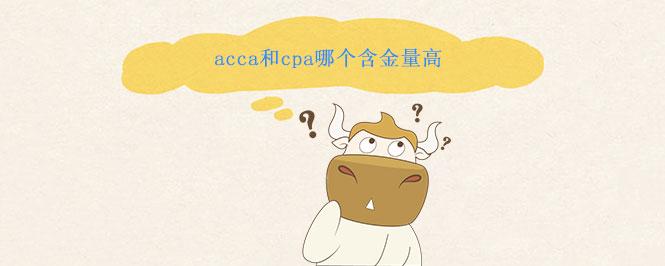 acca和cpa哪个含金量高