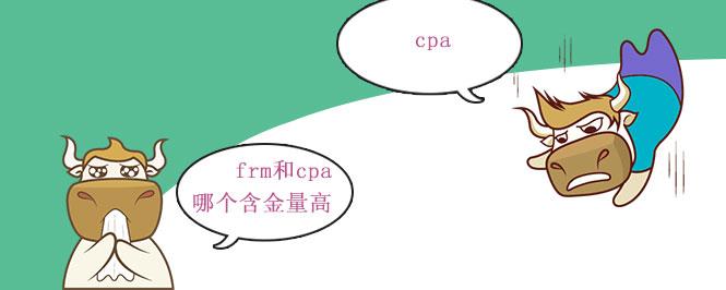 frm和cpa哪个含金量高
