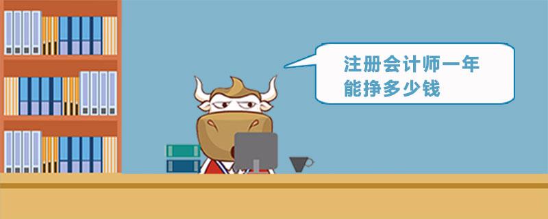 注册会计师一年能挣多少钱