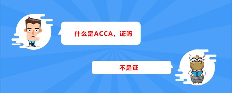 什么是ACCA,证吗