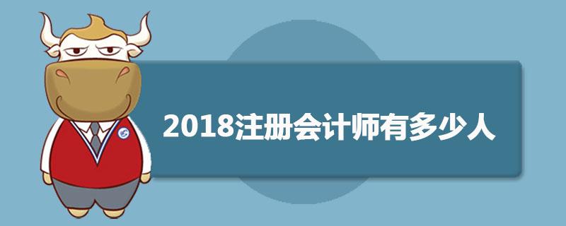 2018注册会计师有多少人