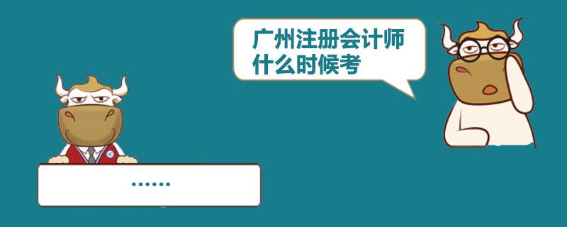 广州注册会计师什么时候考