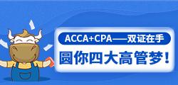 ACCA+CPA——双证在手,圆你四大高管梦!