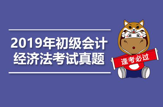2019年初级会计职称考试《经济法基础》真题+答案+解析【5月15日】