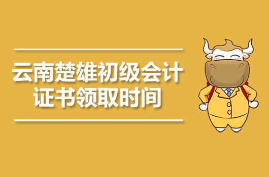 2019年云南楚雄初级会计职称证书领取时间