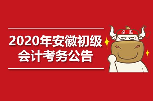 2020年安徽初级会计职称考试考务日程安排的通知