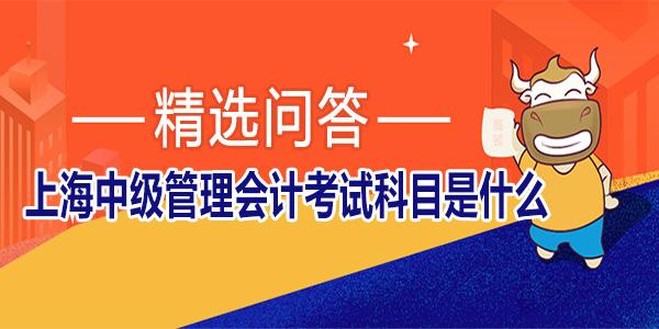 上海中级管理会计考试科目是什么