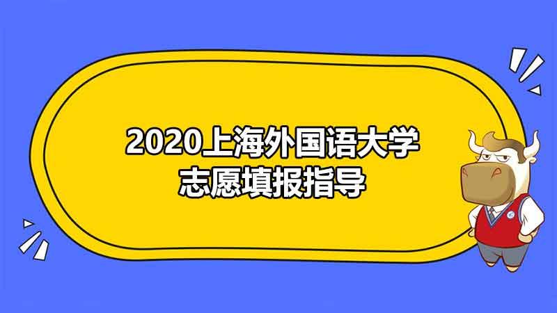 2020上海外国语大学志愿填报指导