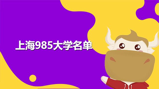 上海985大学名单