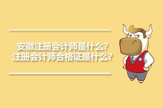 安徽注册会计师是什么?注册会计师合格证是什么?