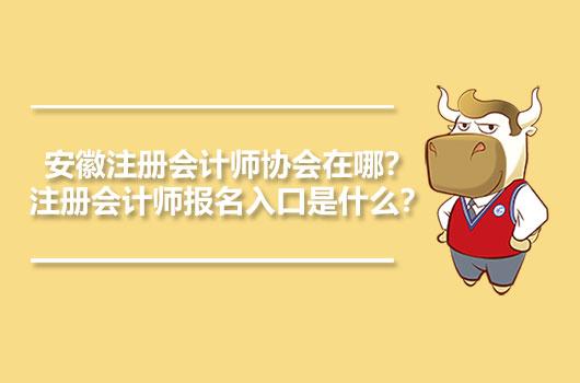 安徽注册会计师协会在哪?注册会计师报名入口是什么?