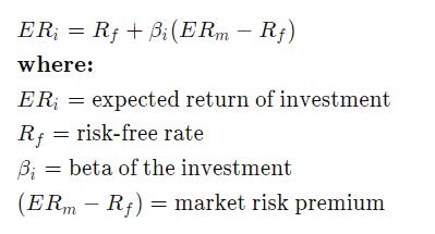 定价模型计算公式