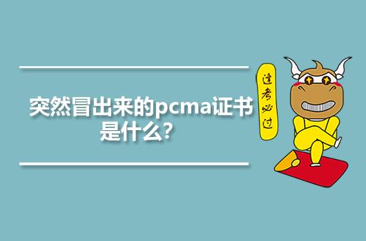 突然冒出来的pcma证书是什么?