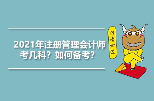 2021年注册管理会计师考几科?如何备考?