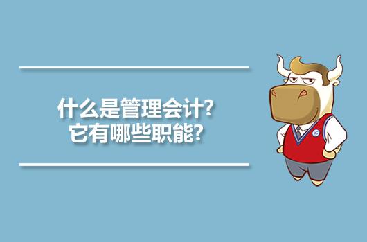什么是管理会计?它有哪些职能?