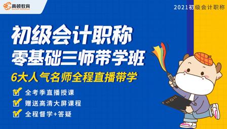 2021年初级会计职称零基础三师带学班【官网】
