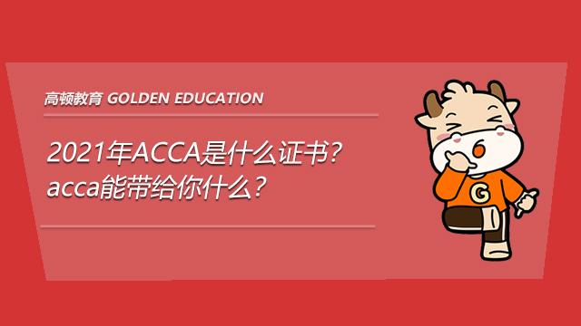 高顿教育:2021年ACCA是什么证书?acca能带给你什么?