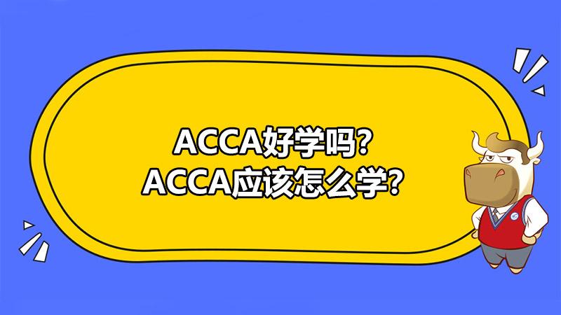 ACCA好学吗?ACCA应该怎么学?