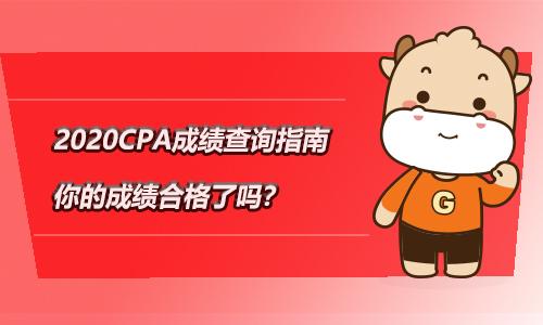 2020CPA成绩查询指南,你的成绩合格了吗?