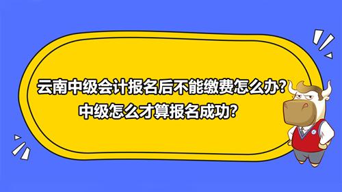 2021云南中级会计报名后不能缴费怎么办?中级怎么才算报名成功?