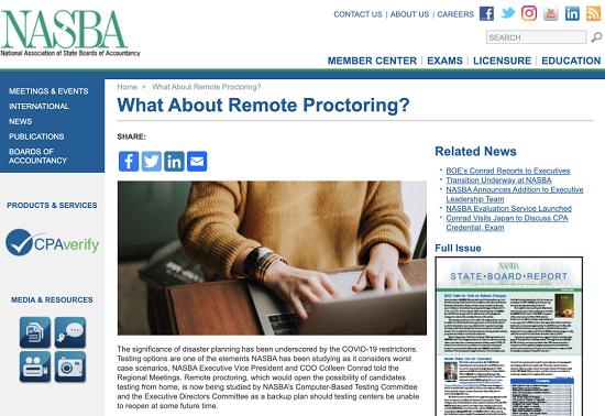 NASBA发声:AICPA将有可能实现远程考试?
