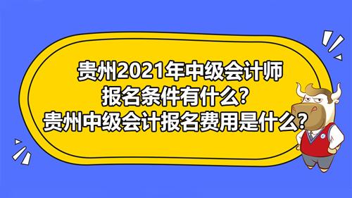 貴州2021年中級會計師報名條件有什么?貴州中級會計報名費用是什么?