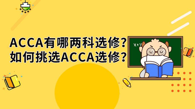 ACCA有哪两科选修?如何挑选ACCA选修?